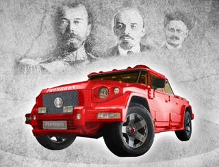 Illustration for article titled $1.5M Russian SUV Features Diamonds, Whale Penis Leather