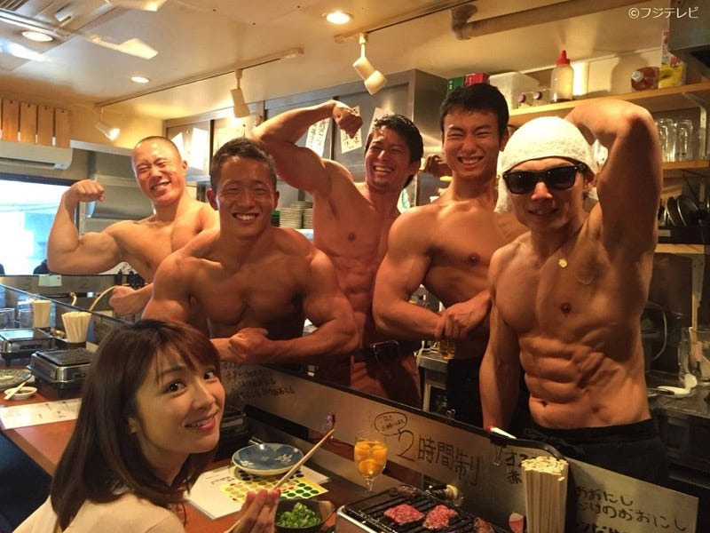 Illustration for article titled Japan's Macho Restaurant Serves Up Real Beefcakes