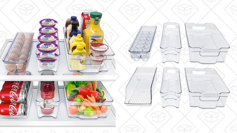 Sorbus Fridge Bins and Freezer Organizer Refrigerator Bins Stackable Storage Containers | $23 | Woot