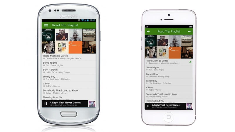 Illustration for article titled Watch Out Spotify: Xbox Music Is Finally Coming To iOS & Android