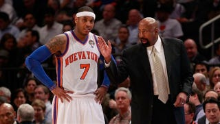 Illustration for article titled Mike Woodson Says Carmelo Wasn't The Problem, But He Is The Solution