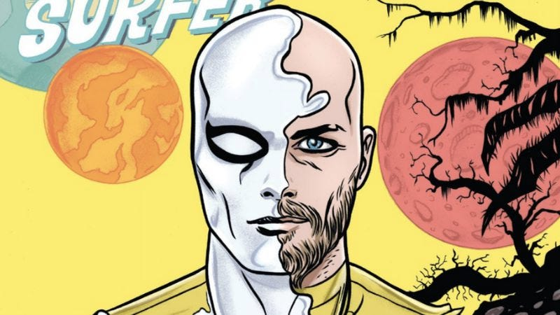 Illustration for article titled Silver Surfer #12 is a heartwarming romance with rich superhero spectacle