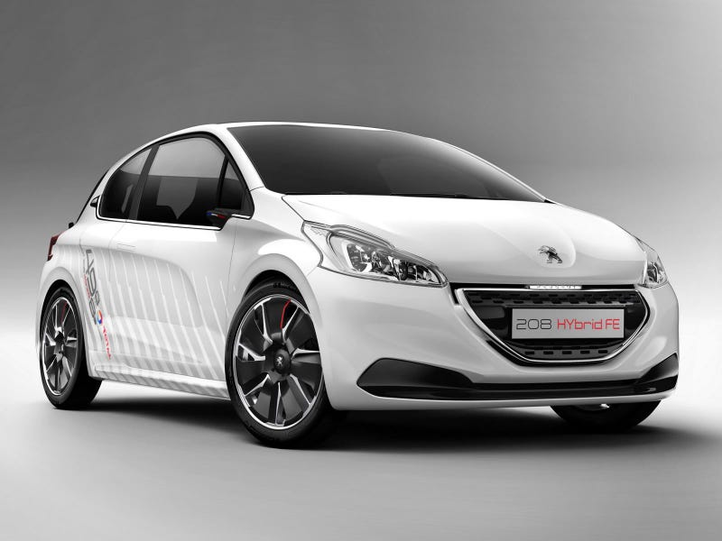 Illustration for article titled Speaking of Hot New Peugeots, Meet The 208 Hybrid FE