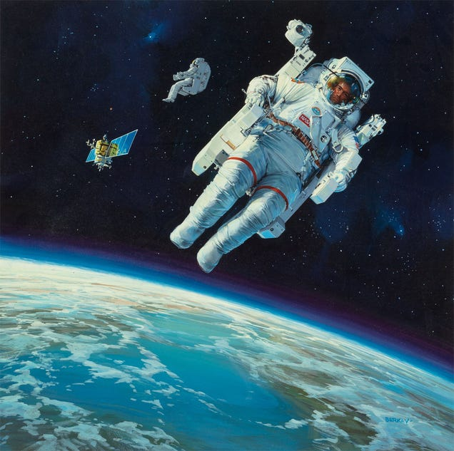 astronaut in space painting - photo #44