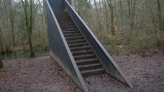 So has anyone seen stairs in the woods?