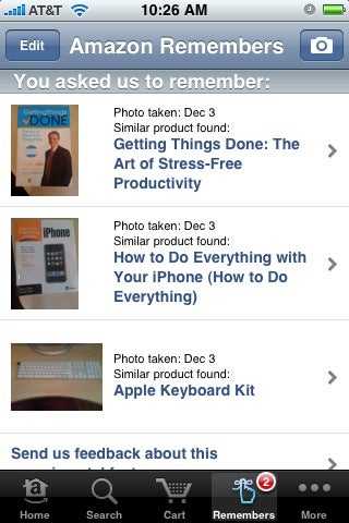 Illustration for article titled Amazon Mobile Looks Up Any Product You Snap a Picture Of