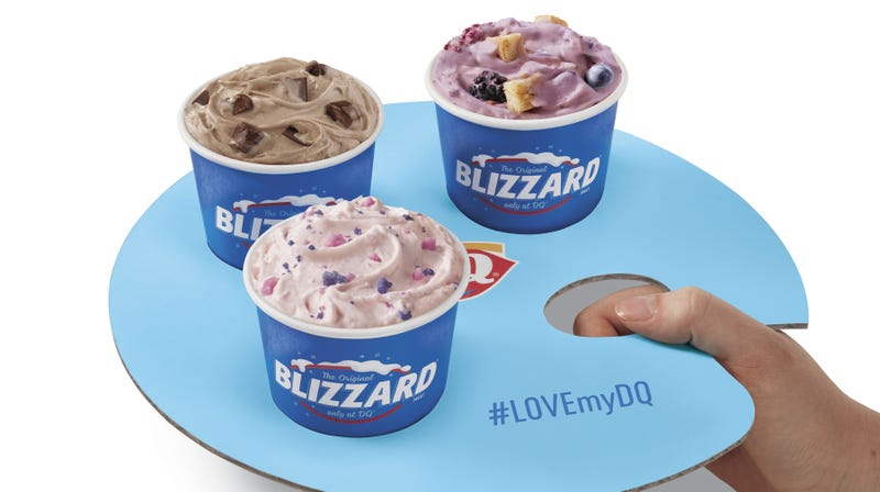 Illustration for article titled Dairy Queen gets fancy with Blizzard flights this month