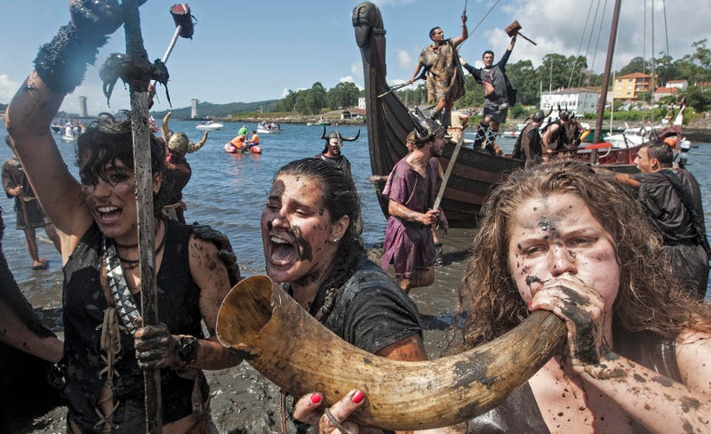 Photo: AP (from a 2012 Vikings Festival in Spain, but you get the picture)