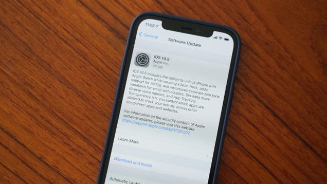 Apple s iOS 14.5 Update With a Masked Unlock Feature Is Here