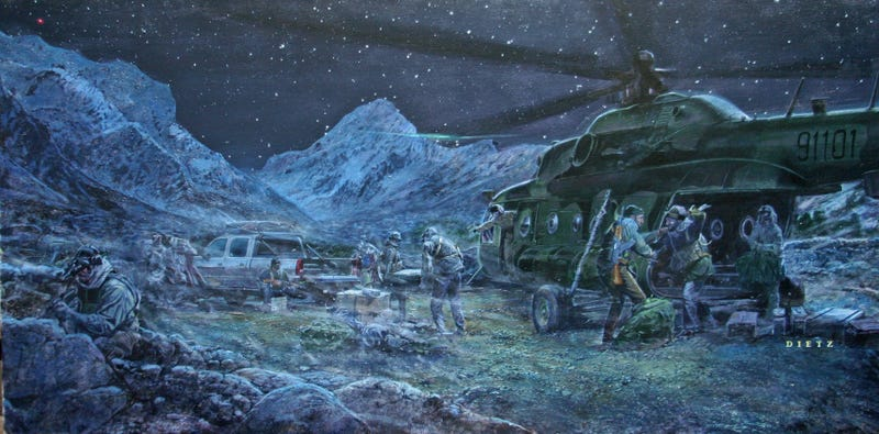 Illustration for article titled The CIA's Bizarre Art Collection Memorializes Its Greatest Hits