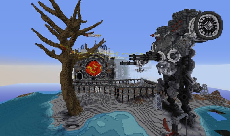 Minecraft S Industrial Revolution Maps Are Suitably Magical