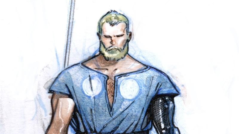 Concept art of The Unworthy Thor