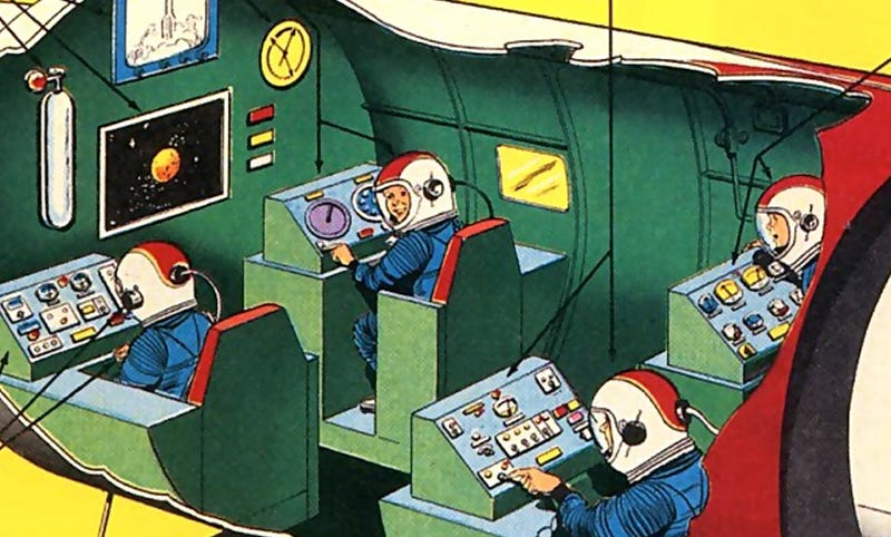 Illustration for article titled Kraft Foods Gave Away a Real Spaceship Simulator in 1959