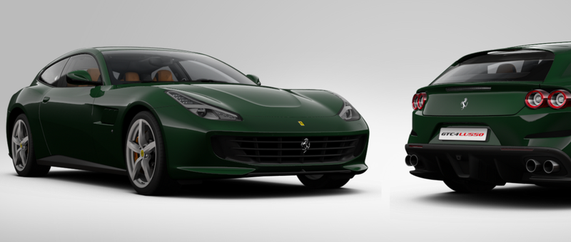 A GTC4 Lusso in 'Verde British' from my dreams, Ferrari