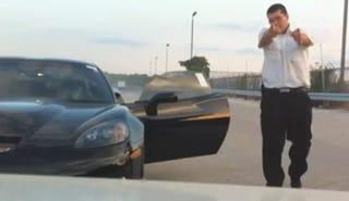 Illustration for article titled Car Dealer Seeks Arrest Of Corvette-Thrashing Security Guard