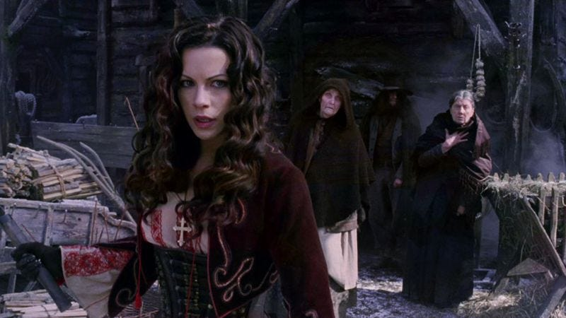 Kate Beckinsale was the female lead in Van Helsing
