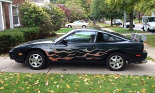 Illustration for article titled Rare 240ZX, 192k miles, flame paint job, $5k plz.