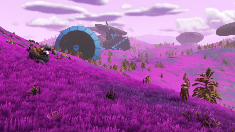Illustration for article titled No Man's Sky Players Are Spotting Pink Grass, And They're Thrilled