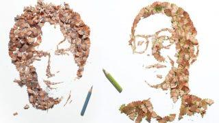 Illustration for article titled Pencil Shavings Make Good Portraits