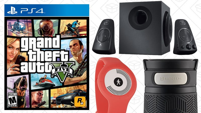 Illustration for article titled Today's Best Deals: Logitech Gear, Contigo Mugs, GTA V, and More