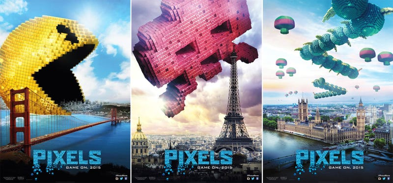 Illustration for article titled New Pixels Movie Posters Are Works Of Arcade Art