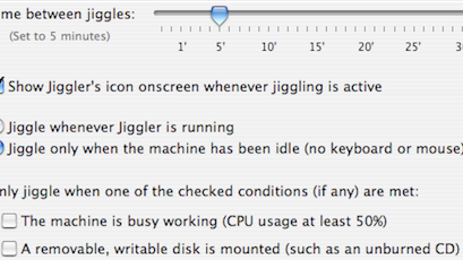 Keep your Mac awake with Jiggler