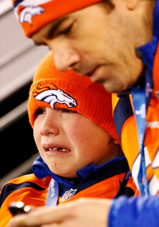 Illustration for article titled Crying Broncos Kid Is The Face Of The Super Bowl