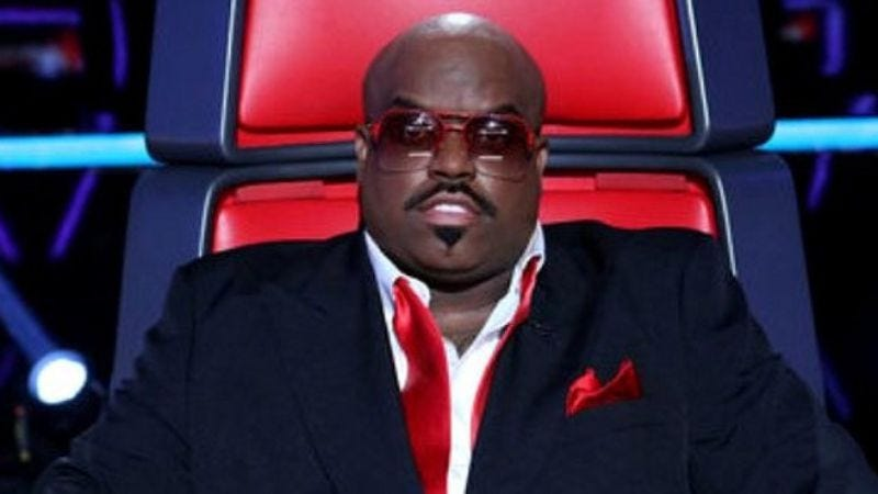 Illustration for article titled Cee Lo Green asks The Voice to stop the spinning chair, he wants off