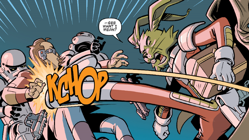 Jaxxon recreating the kick he was introduced with four decades ago, right down to the KCHOP.