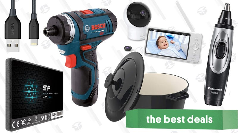 Illustration for article titled Tuesday's Best Deals: Bosch Drill, Dutch Oven, Super-Thin iPhone Cases, and More