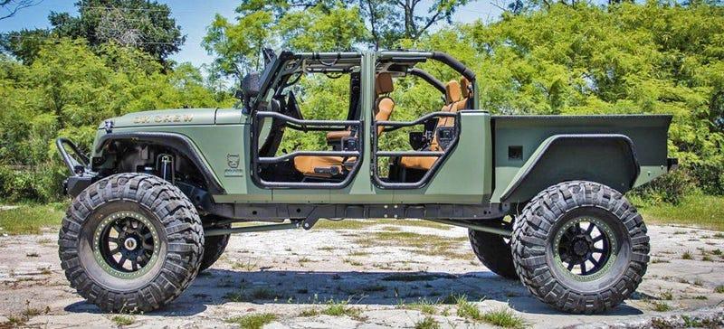Salvage Jeeps This $180,000 Wrangler Is Peak Jeep Pickup Truck