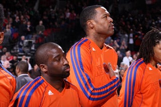 Marcus Camby, center (Getty Images)