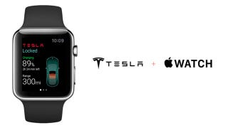 Illustration for article titled Here's How A Tesla App Would Work On The Apple Watch