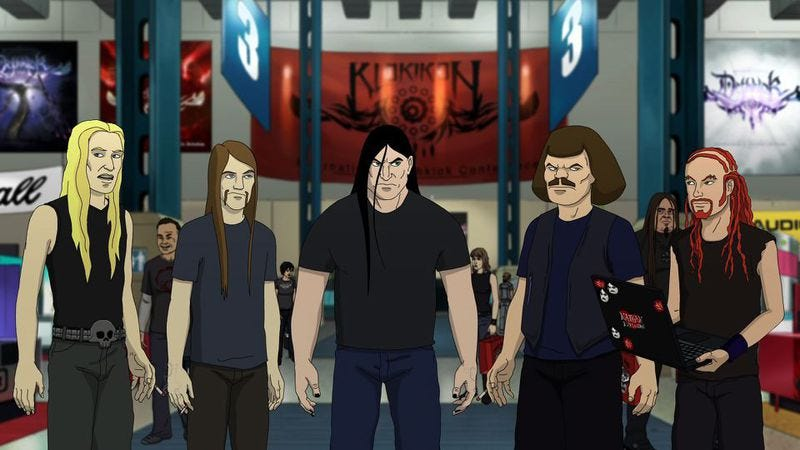 Illustration for article titled Beat it, Tommy! Up yours, The Wall! Here comes the Metalocalypse rock opera