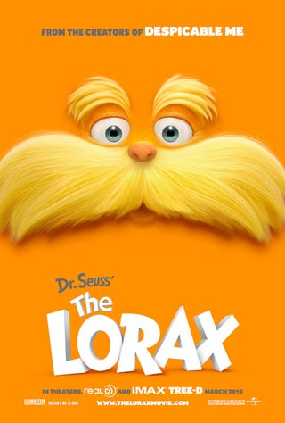 Illustration for article titled The Lorax Teaser Poster