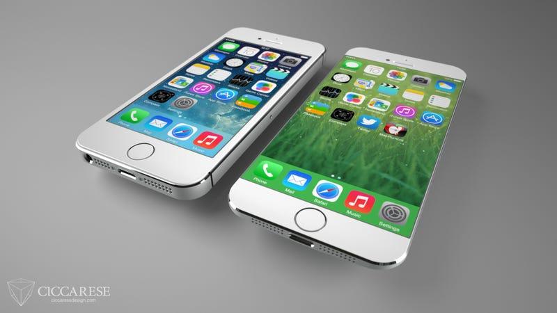 Illustration for article titled ¿Qué aspecto tendría un iPhone con la pantalla más grande?