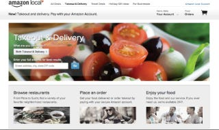 Illustration for article titled Amazon Is Testing a Restaurant Delivery Service To Compete With Seamless