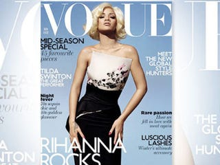 Illustration for article titled Rihanna Lightened on Vogue Cover?