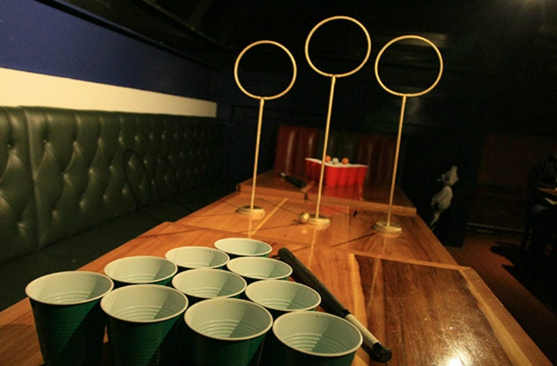 Illustration for article titled Holy Crap, We Really Want to Play Some Quidditch Beer Pong