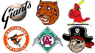 Illustration for article titled The Hidden History of This Year's MLB Playoff Team Logos