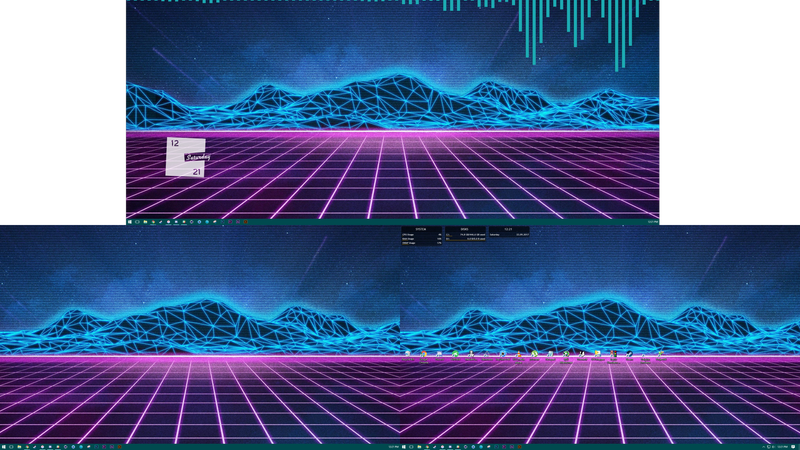 Illustration for article titled Am doing some neato burrito synthwave-y things to my desktop