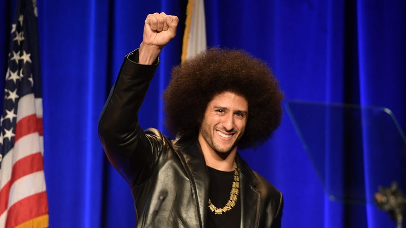 Colin Kaepernick speaks onstage at ACLU SoCal Hosts Annual Bill of Rights Dinner on December 3, 2017 in Beverly Hills, California.