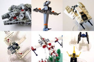 Illustration for article titled Using Hundreds of LEGO Star Wars Mini-Spaceships to Create Huge Battles