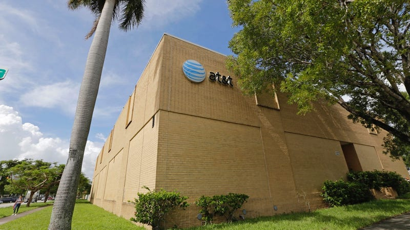 File photo of an AT&T building in Miami, Florida