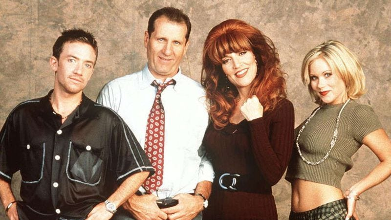 David Faustino, Ed O'Neill, Katey Sagal, and Christina Applegate starred in Married… With Children (Photo: Fox)