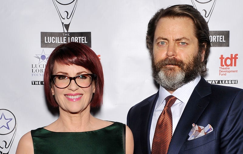 Illustration for article titled Megan Mullally and Nick Offerman Are Perfect and Can Never Go Away