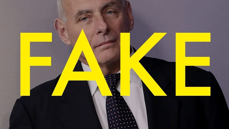 That John Kelly Twitter Account Is Totally Fake