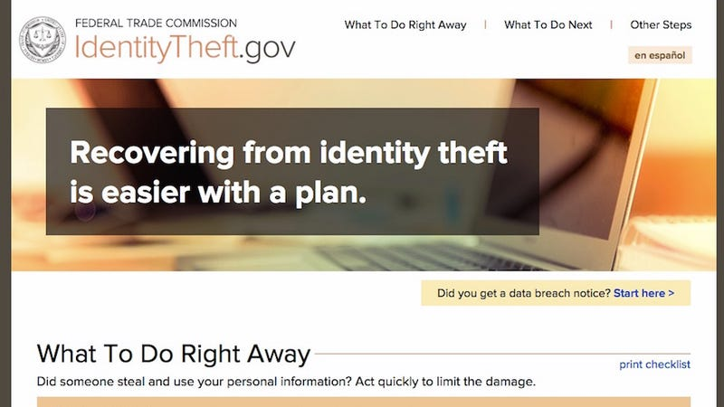 Illustration for article titled IdentityTheft.gov Shows You How to Recover From a Stolen Identity