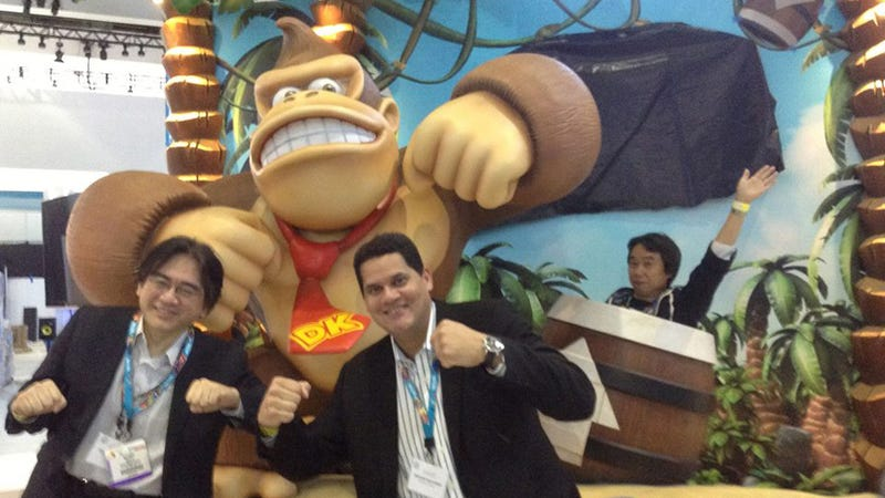 Illustration for article titled E3 is a Barrel of Fun for Reggie, Iwata, and Miyamoto