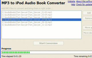 Illustration for article titled Convert MP3 audiobooks for the iPod with MP3 to iPod Audio Book Converter